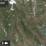 The condition of hotspots and smoke haze in the State Border Myanmar and Thailand is visible on satellite sourced from https://worldview.earthdata.nasa.gov/