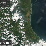 The condition of hotspots and smoke haze in the Pahang-Malaysia is visible on satellite sourced from https://worldview.earthdata.nasa.gov/