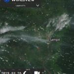 The condition of hotspots and smoke haze in the Sampit - Central Kalimantan Province (Indonesia) is visible on satellite sourced from https://worldview.earthdata.nasa.gov/