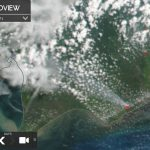 The condition of hotspots and smoke haze in the Seruyan - Central Kalimantan Province (Indonesia) is visible on satellite sourced from https://worldview.earthdata.nasa.gov/