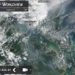 The condition of hotspots and smoke haze in the Malaysia and Indonesia is visible on satellite sourced from https://worldview.earthdata.nasa.gov/
