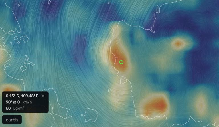 PM 2.5 Mencapai 68 µg/m3 berada di atas NAB 65 µg/m3